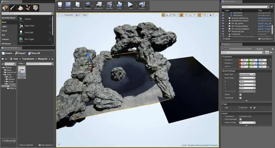 Translucent Water Detail in Unreal Engine 4 (With images ...