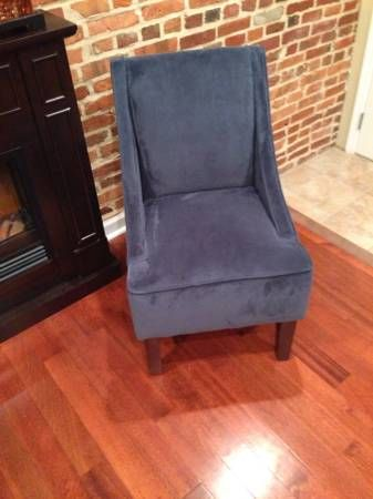Craigslist Set Of Two Handsome Accent Chairs Available Features Lush Upholstery Thick Padded Cushion Modern Tapered Legs With Images Accent Chairs Chair Hardwood Frame