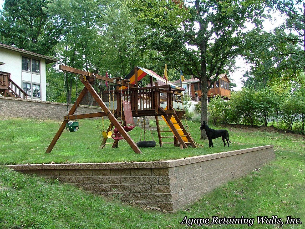 another view sloped yard | Sloped backyard, Sloped yard ...