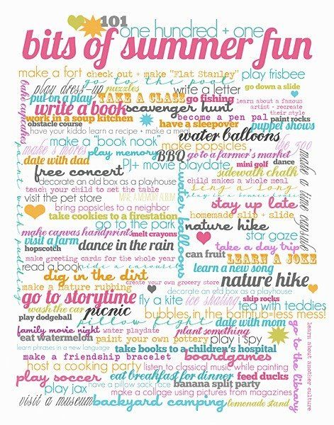 101 things to do during summer summer projects for me summer fun list summer fun summer. Black Bedroom Furniture Sets. Home Design Ideas