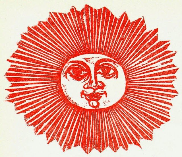The fiery red of the sun. Antonio Frasconi