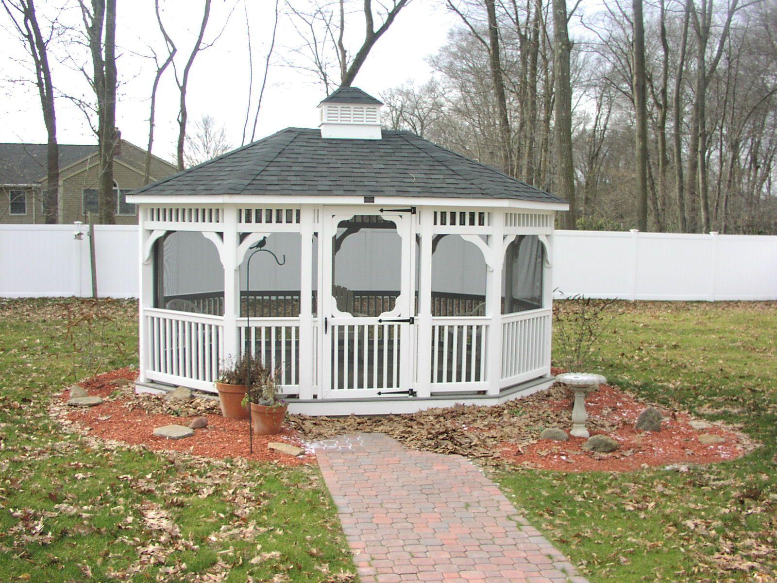 Backyard Enclosed Gazebo - Backyard Designs