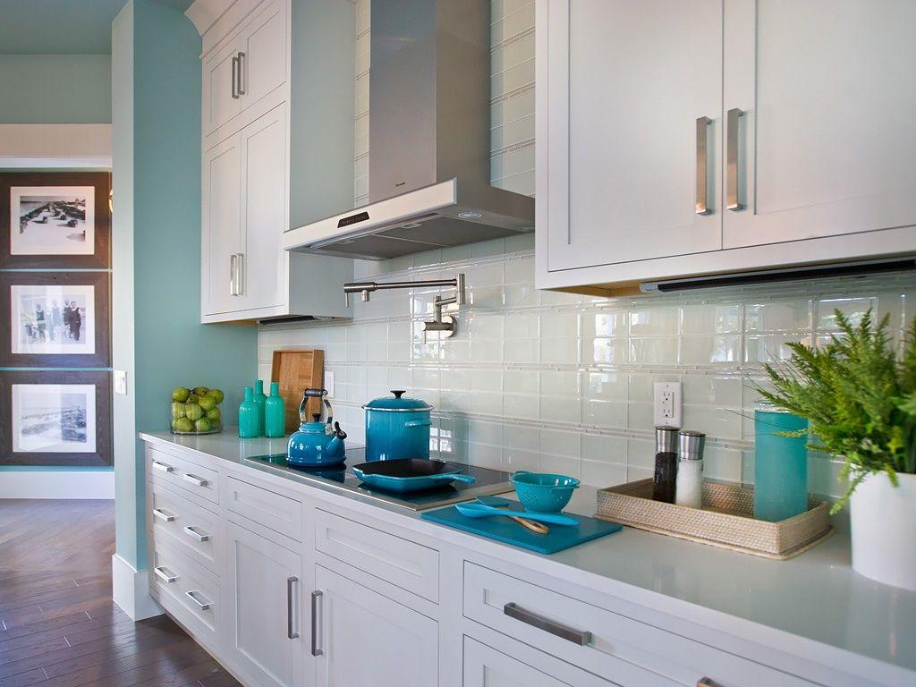 Imágenes de cocinas con toques turquesas   Ideas de decoracion ...