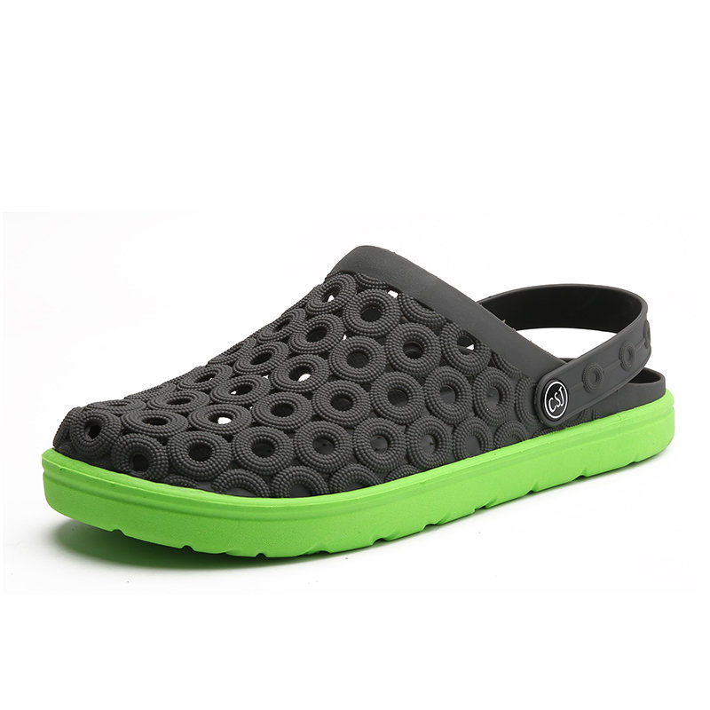 Men Hole Breathable Soft Light Beach Sandals Waterproof Garden