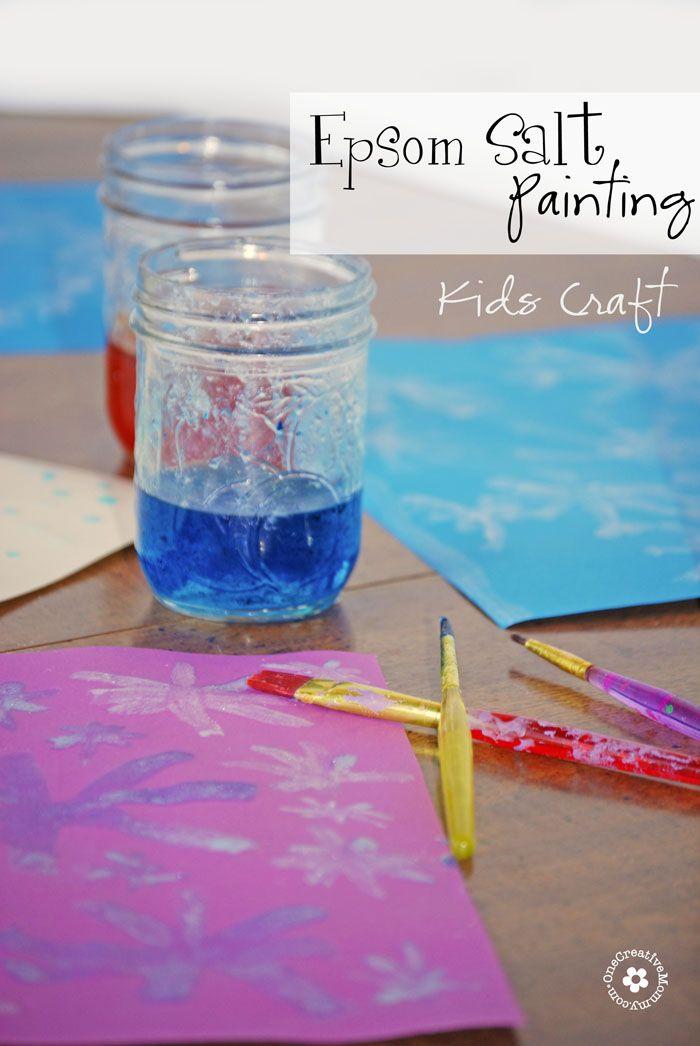 Sparkle Playdough Inspired By Frozen Salt Painting Kids Painting Crafts Painting For Kids
