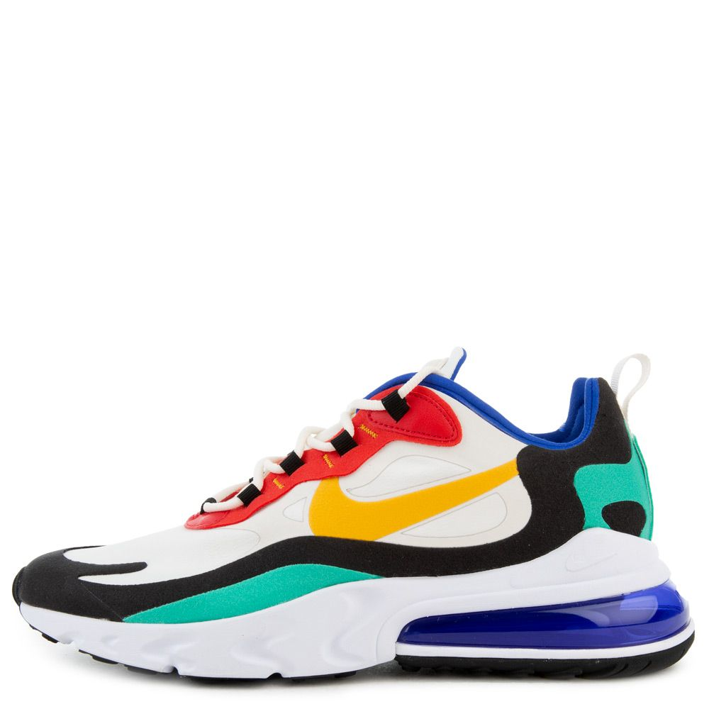 nike air max 270 react shoes - phantom / university gold - university red
