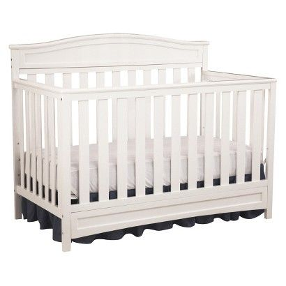 Durable, stable and stylish, the Emery 4-in-1 Crib from Delta Children will charm for years to come. Converting from a multi-positional crib to a toddler bed, daybed and full size bed, it's designed to be a part of your little one's life from infancy to adulthood. Featuring a slightly curved headboard and airy slats, this beautifully crafted crib is also JPMA certified to ensure your child's safety.