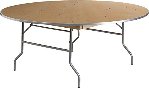 Bon 10 PACK 72u0027u0027 Round Commercial Quality Heavy Duty Birchwood Folding Banquet  Table With Metal Edges | Home | Pinterest | Banquet Tables, Commercial And  ...