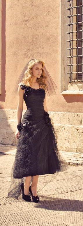 Black Wedding Dress Up : Short black wedding dress by rembo styling wedding dresses