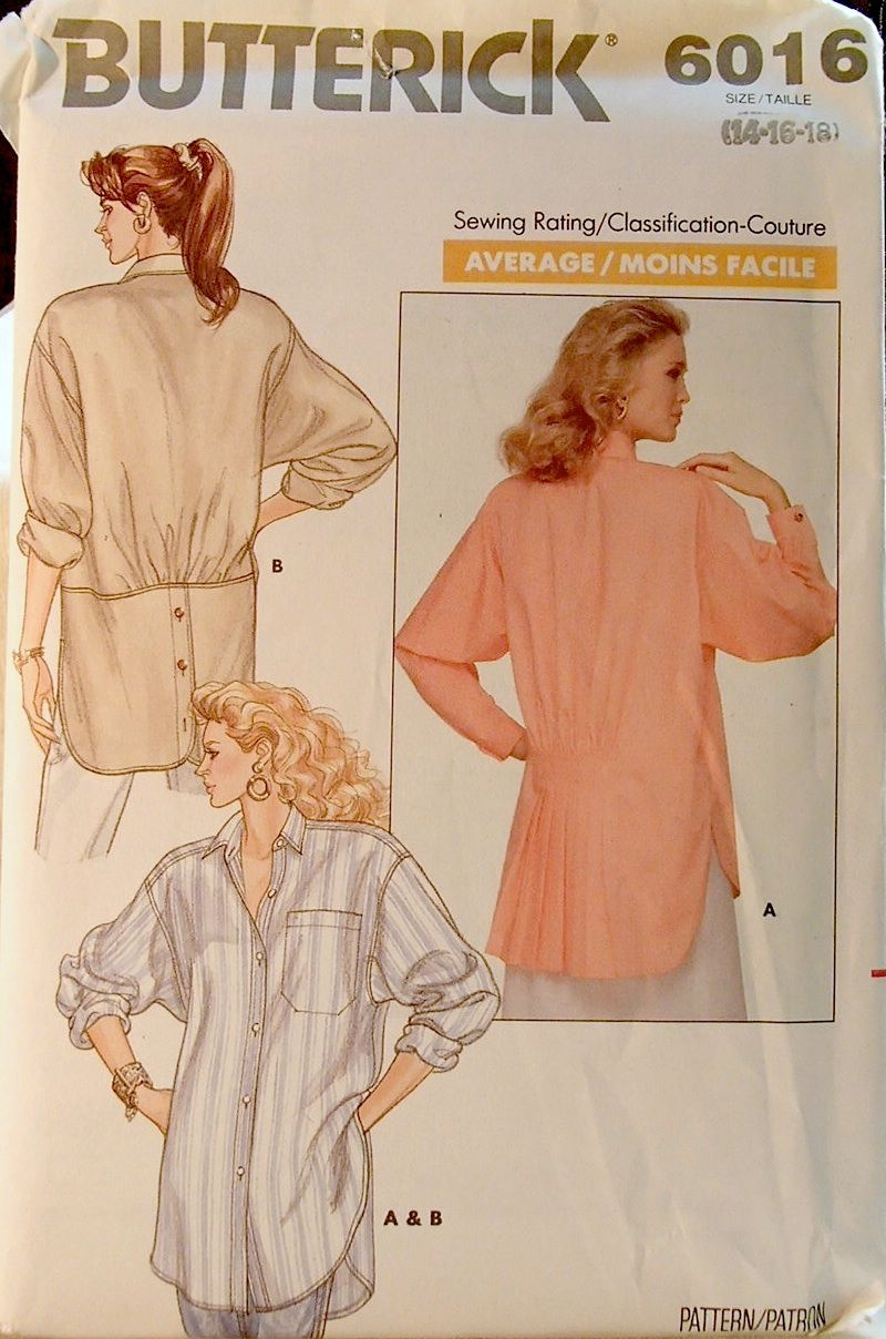 Butterick 6016 D in 2019 | 1980s sewing patterns | Vintage
