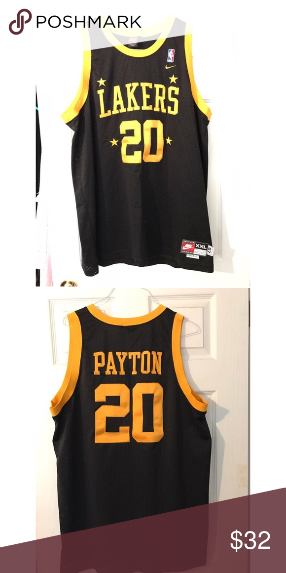Vintage 2000s Nike La Lakers Jersey Gary Payton La Lakers Jersey Gary Payton Nike Shirts