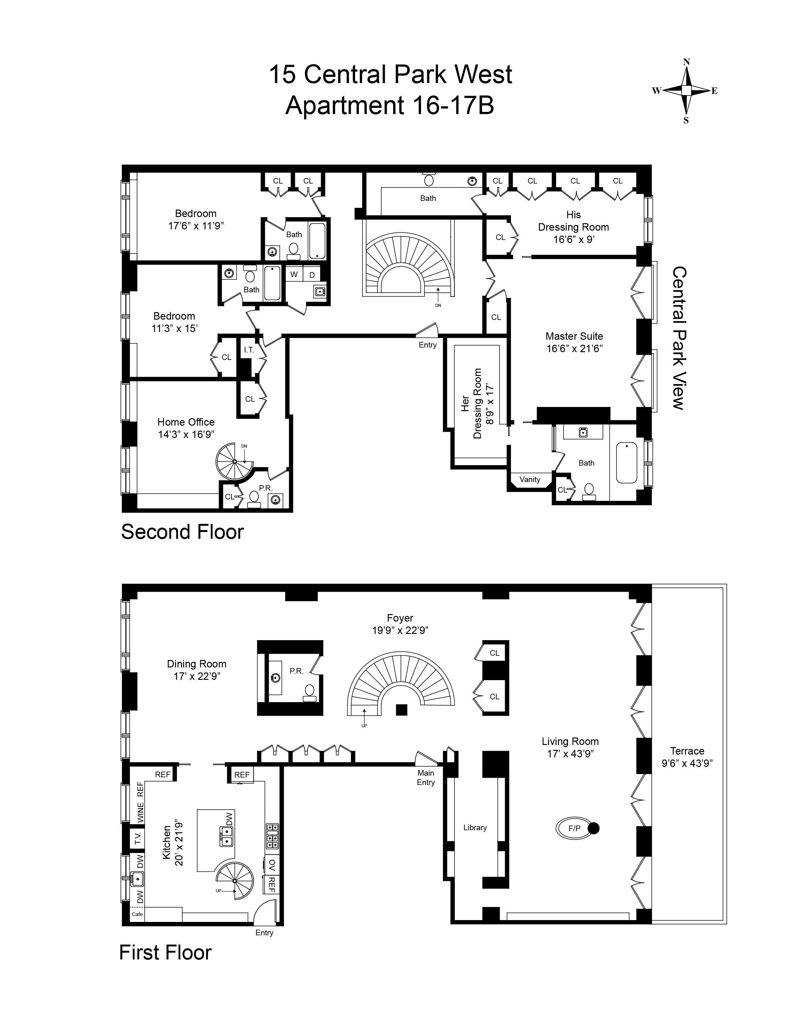 floorplan0 Floor plans, Penthouse apartment floor plan