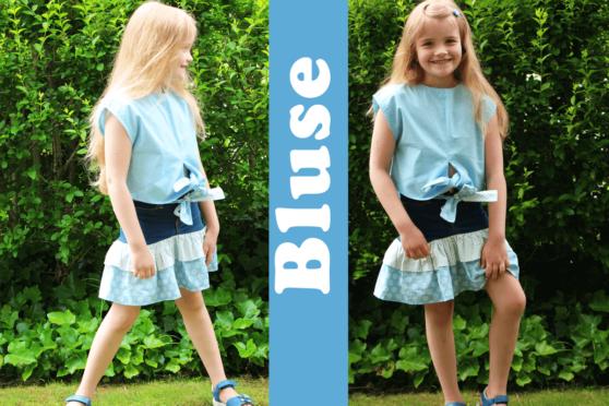 Kinder Bluse nähen zum Binden von einem Burda Schnittmuster | ChezNU.TV