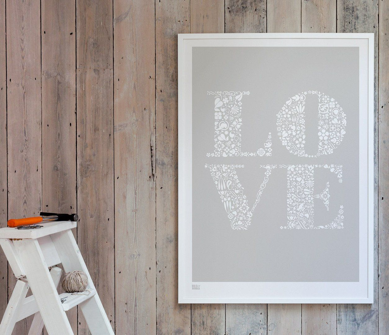Loveu art print in chalk grey words and letters pinterest
