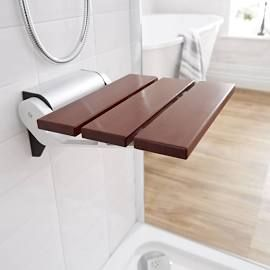 The Hudson Reed Sapelle Folding Shower Seat With Narrow Base Is Sure To Make A Stylish And Practical Addition Any Bathroom Ideal For Those Who Are Less