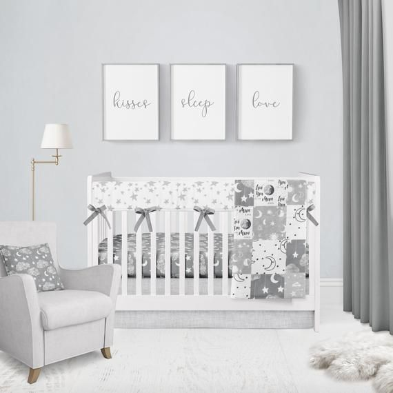 Moon Stars Baby Bedding Crib Set Star And