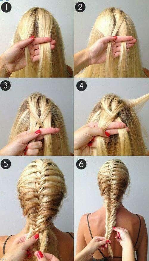 Fischgrtenzopf do it yourself pinterest hair style easy a beautiful french fishtail braidso easy takes a while to get the hang of it solutioingenieria Gallery