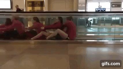 Things people do at the airportwhen their flights are...