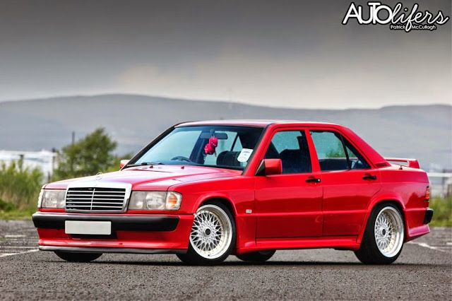 Mercedes Benz 190d W201 Red On Bbs Wheels With Images Mercedes