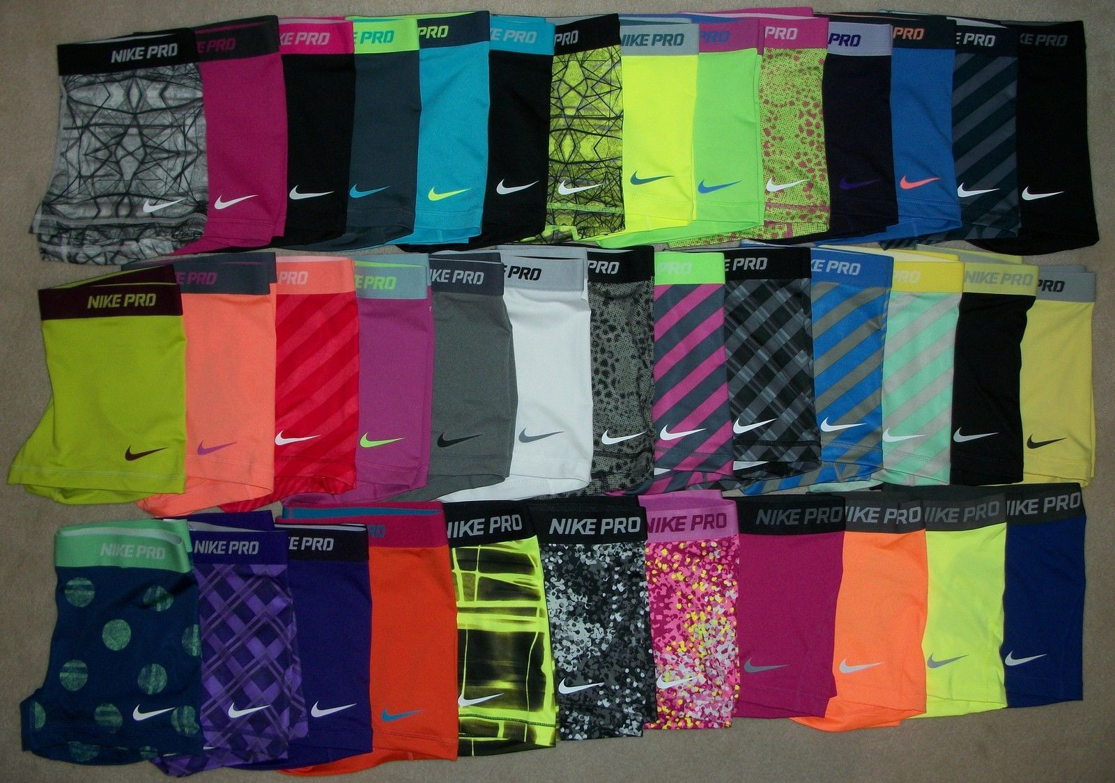 Nike Pro Core Essential Compression Shorts 2 5 1 Pair Spandex Yoga Tights Ebay Nike Pros Volleyball Spandex Nike Pro Shorts