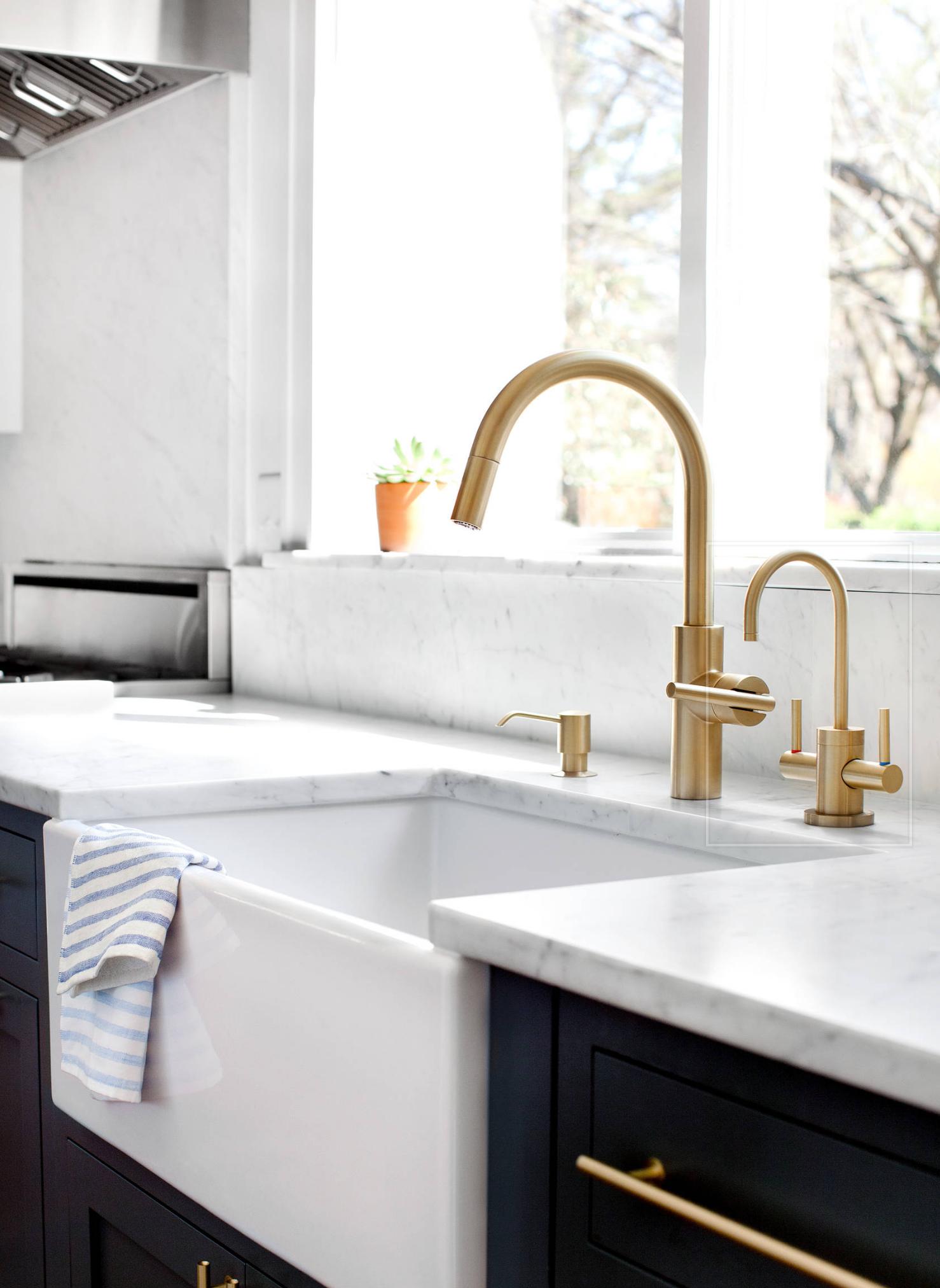 Newport Brass Satin Brass Finish Reference Kitchen Renovation Design Farmhouse Sink Kitchen Brass Kitchen Faucet