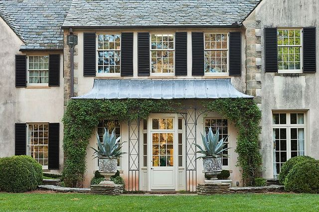 Things That Inspire The Awnings At Boxwood House Exterior Exterior Design House Design