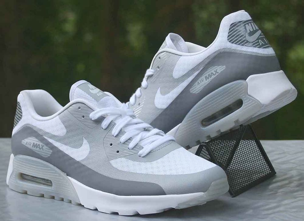 Nike Air Max 90 Women's Ultra Br White Cool Grey Wolf 725061