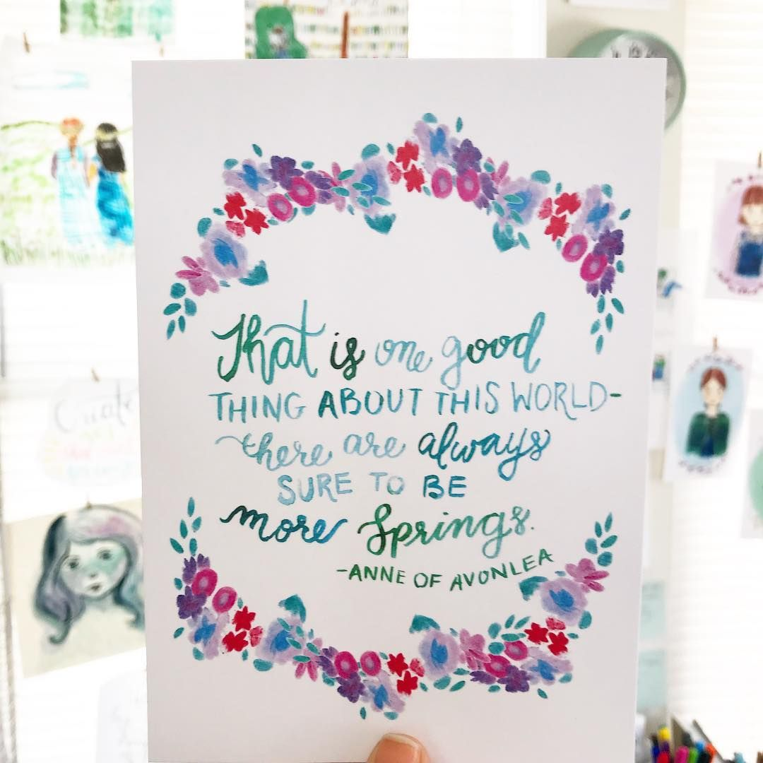This Beautiful Quote Is From Anne Of Avonlea But It Reminds Me A