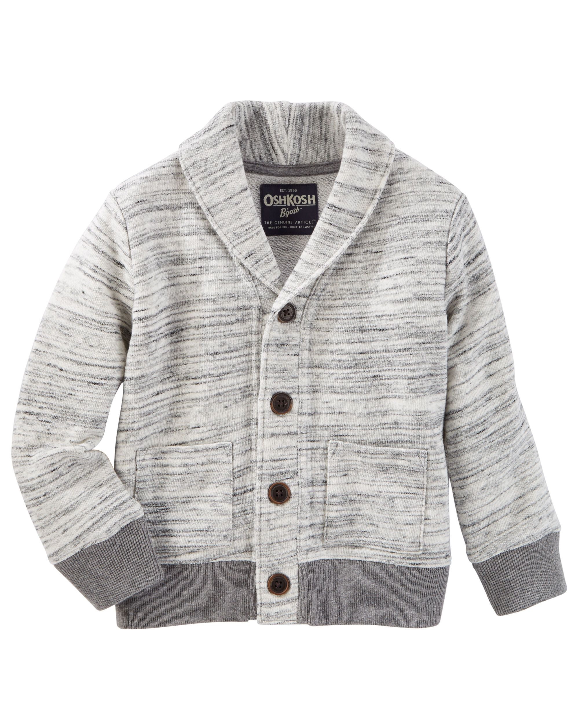 86eb8d43d Toddler Boy Space Dye Shawl Collar Cardigan
