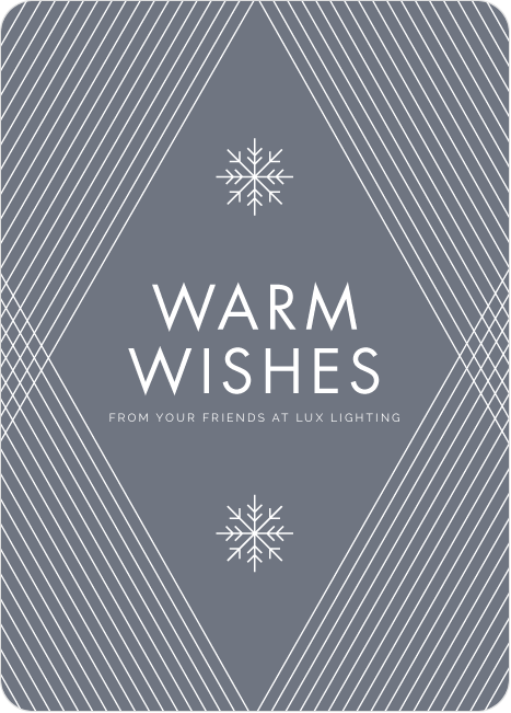 diagonal pattern corporate holiday cards - Corporate Holiday Cards