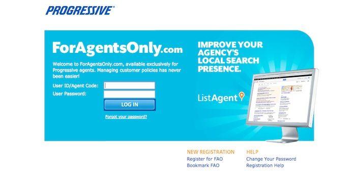 Progressive Agent Login Foragentsonly Com Page Progress