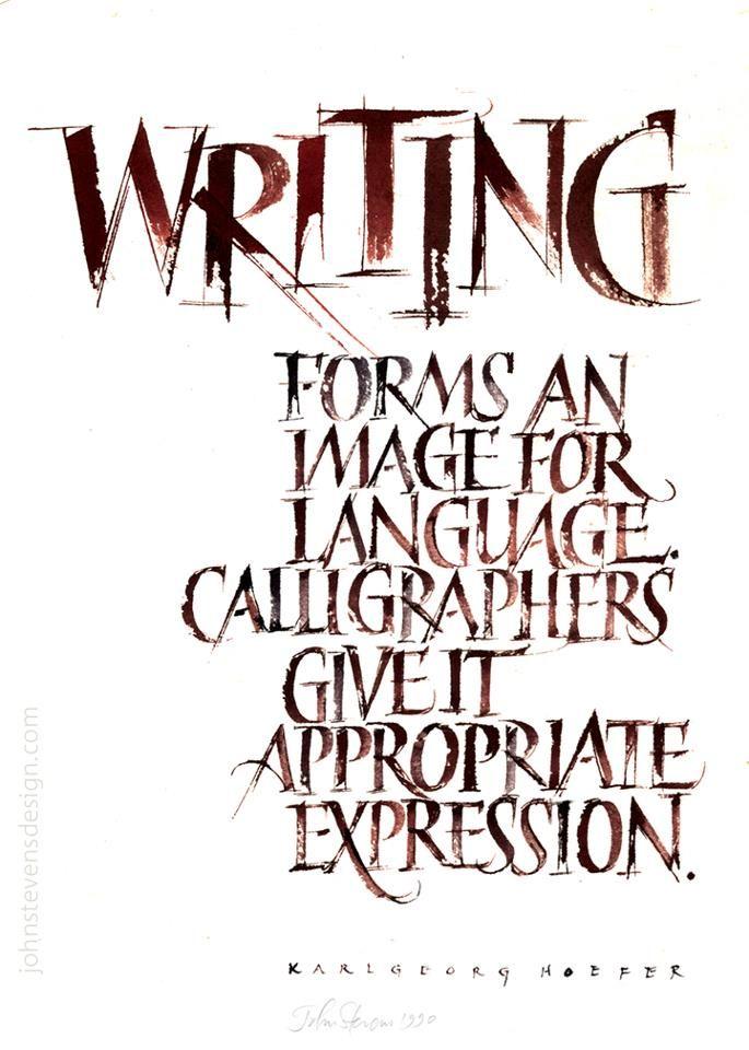 John Stevens Calligraphy Design Calligraphy Pinterest