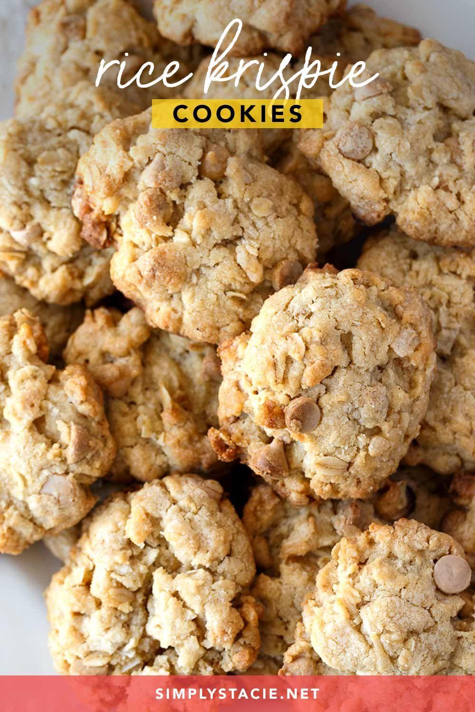 Rice Krispie Cookies Recipe In 2020 Easy Cookie Recipes Rice Krispies Yummy Cookies