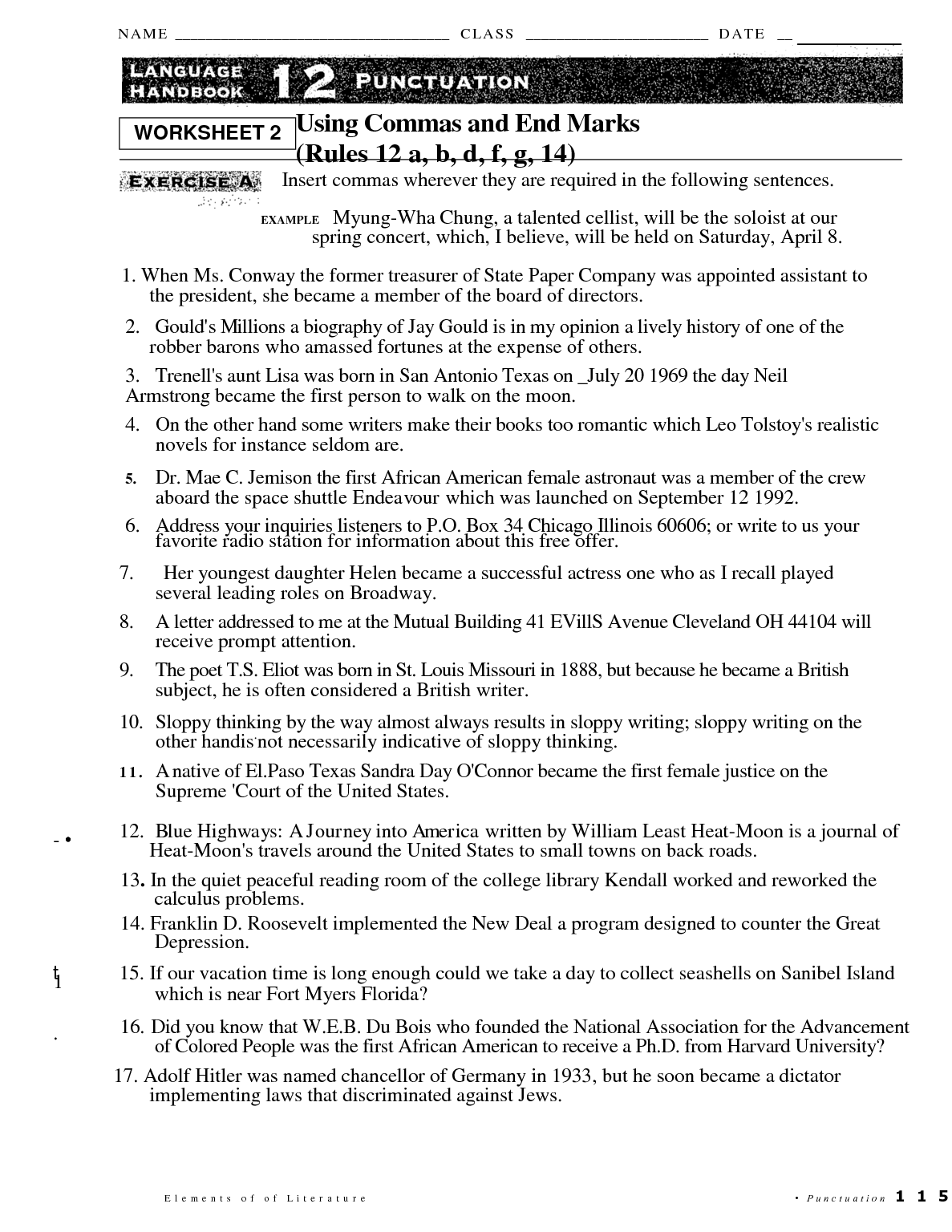 17 Best Images Of Comma Practice Worksheets Comma Splice