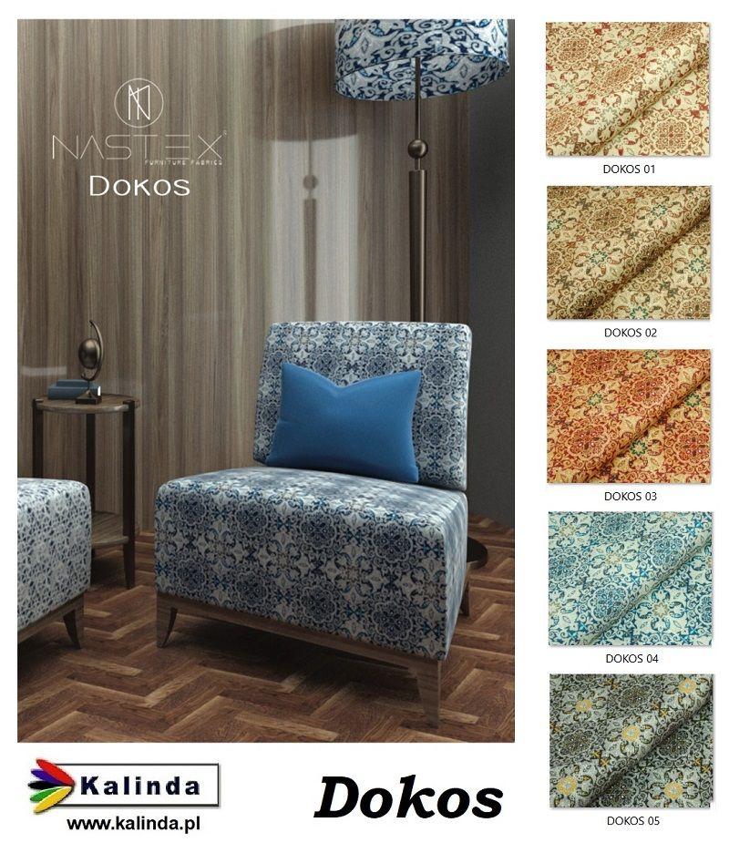 Dokos Tkanina Obiciowa Nadruk Furniture Home Decor Decor