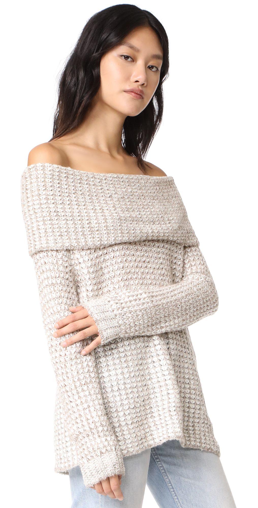 Tegan Off Shoulder Tunic Sweater | Tunic sweater, Tunics and Bb