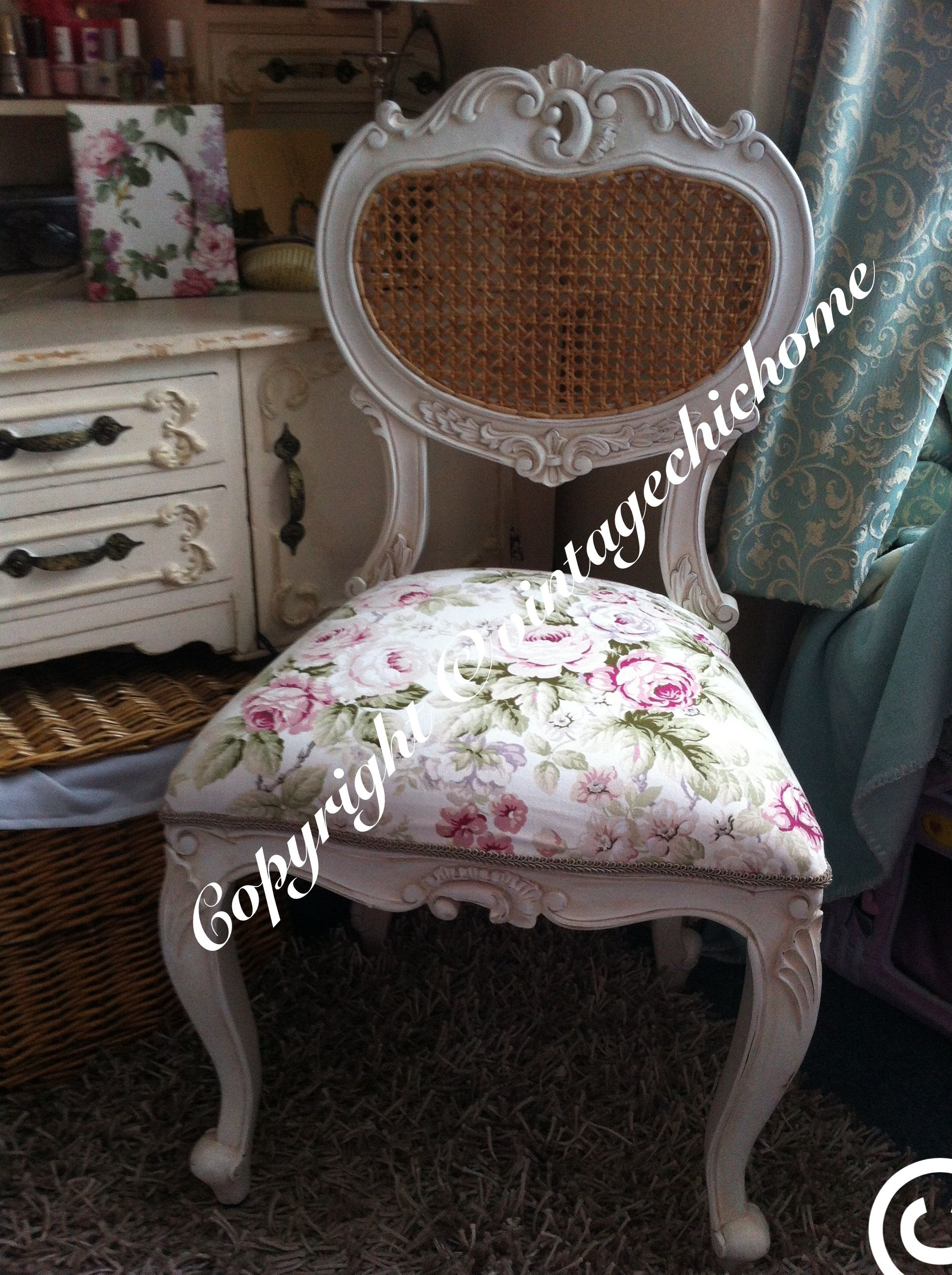Ornate Shabby Chic Country Bedroom Occasional Chair With Vintage Fl Rose Fabric Www Vintagechichome Co Uk