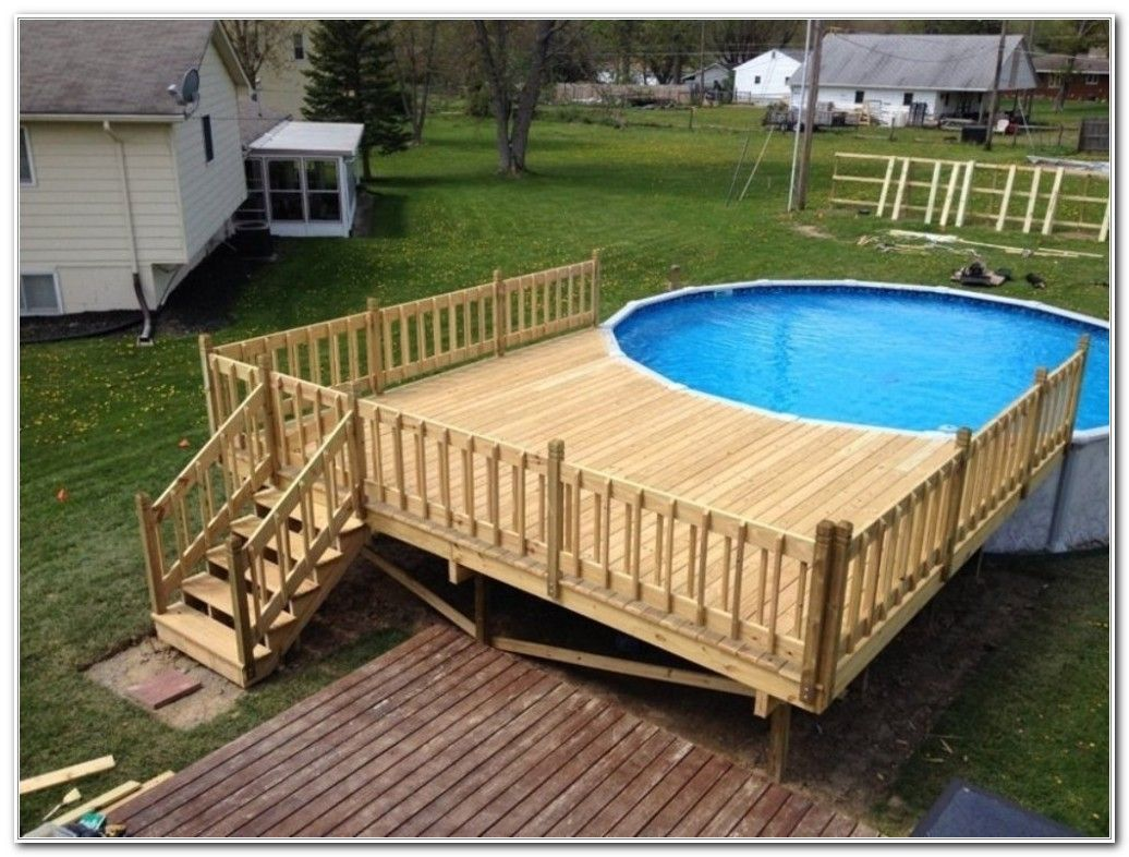 Free Pool Deck Plans Online Decks Home Decorating Ideas Xlwgxnbkrb F Where You Choose In 2020 Pool Deck Plans Above Ground Pool Decks Backyard Pool Landscaping