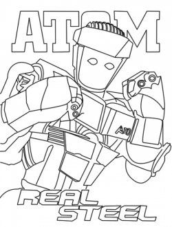 Real Steel Atom Coloring Pages
