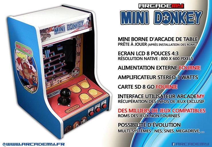 Petit Borne d'arcade de table : - Architecture basé sur mini