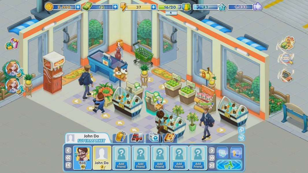 Lucky Supermarket is a social simulation game, free to play on ...