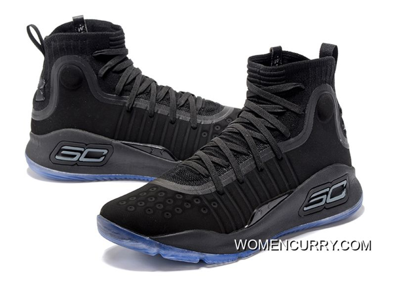 Under Armour Curry 4 Basketball Shoes Black Blue  46883bea9178