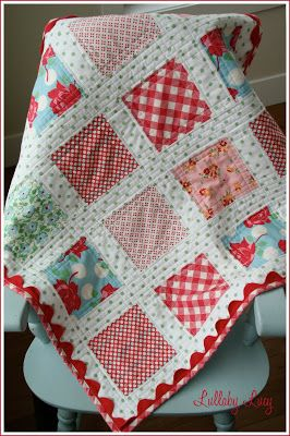 Very cute baby quilt idea--and I love the simplicity of the way ... : cute baby quilts to make - Adamdwight.com