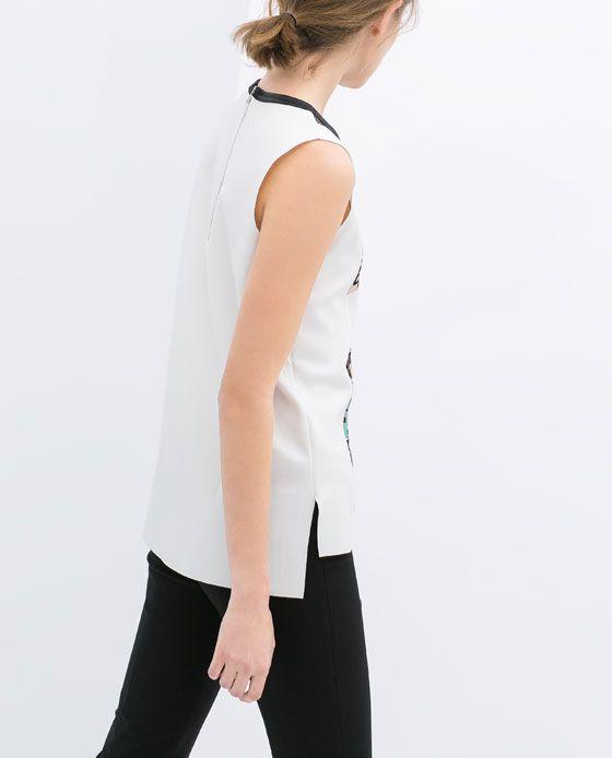 Image 4 de T-SHIRT COUPS DE COULEUR de Zara
