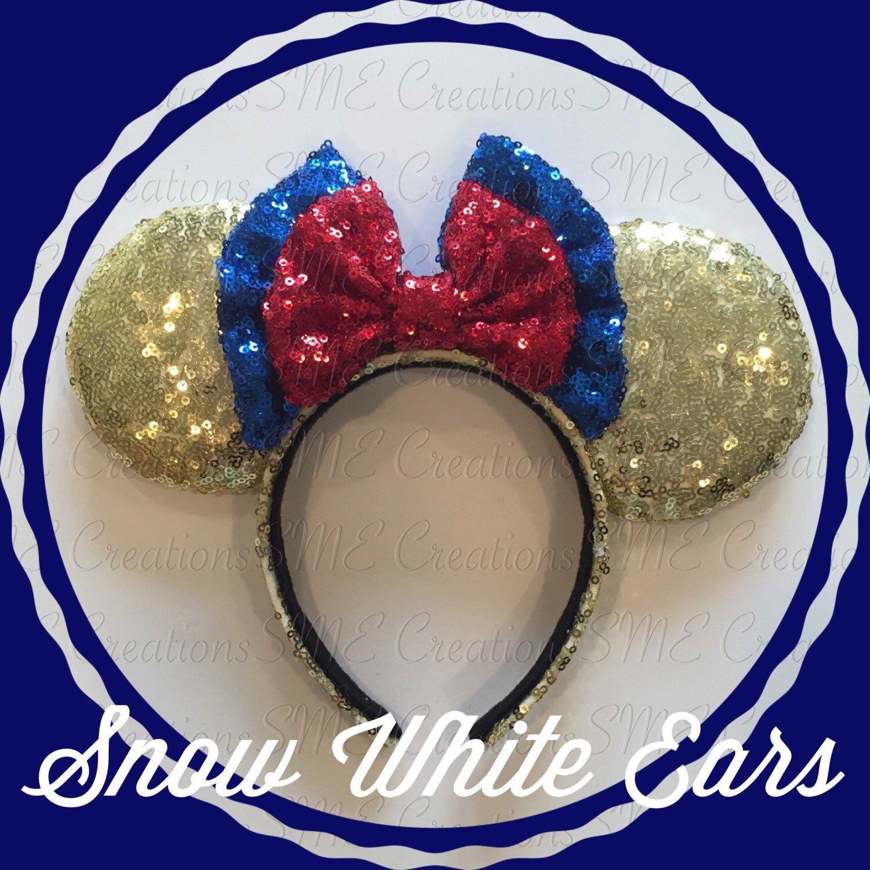 Snow white apron etsy - Snow White Minnie Ears