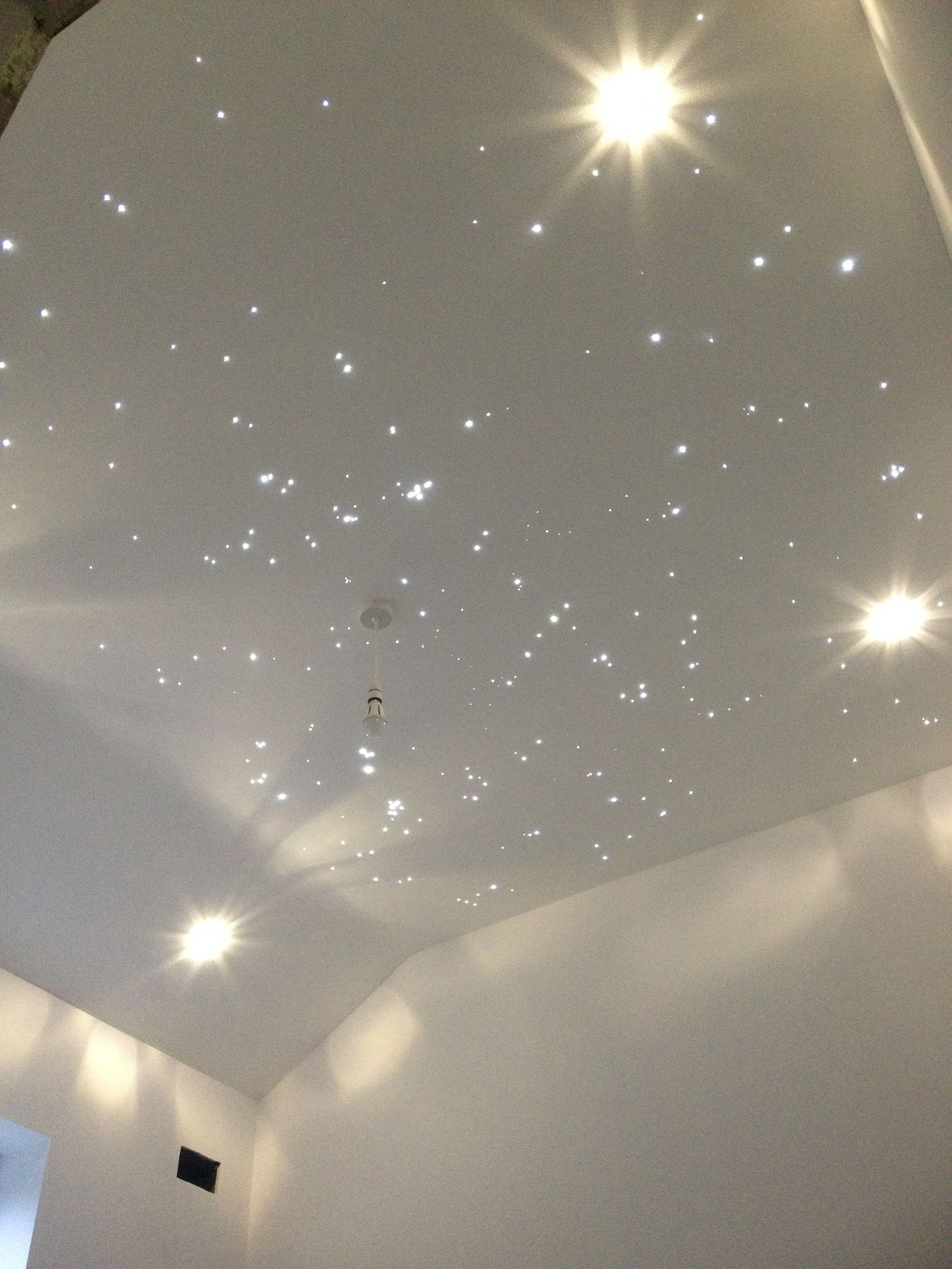 Fibre optic stars in a nursery kids rooms pinterest fiber a very nice star ceiling mozeypictures Image collections