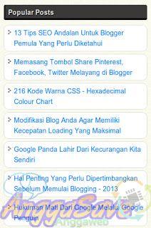 Cara Membuat Popular Post Sederhana Keren Cocok Untuk Blog Sederhana Blogger Blog Blogging