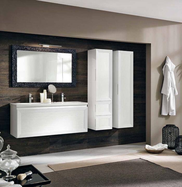 комплетк мебели для ванной белого цвета