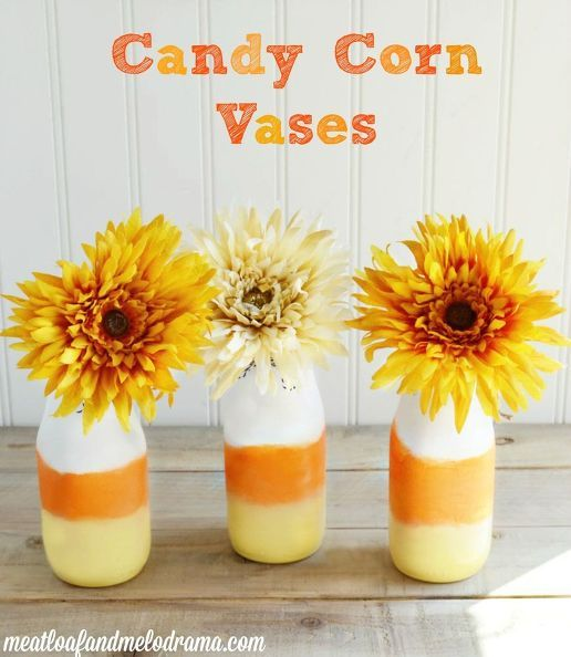 Haha, this leftover Starbucks bottle idea is so darn CUTE! Candy - cute halloween diy decorations