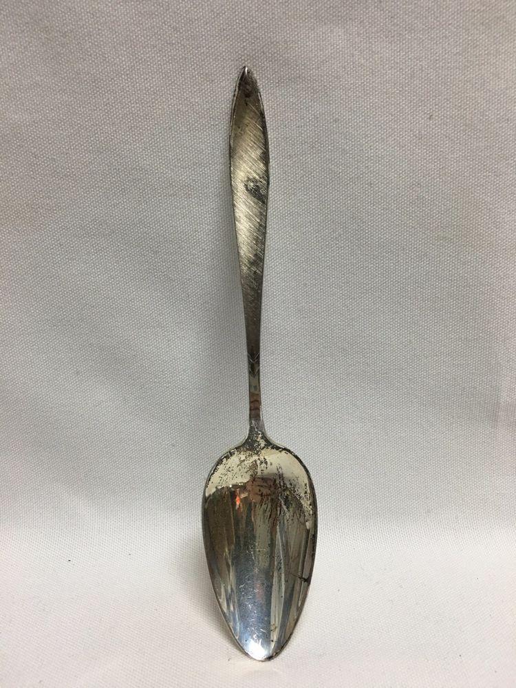 "- 7/"" s International 1810 Sterling Silver Oval Soup Dessert Spoon No Mono"